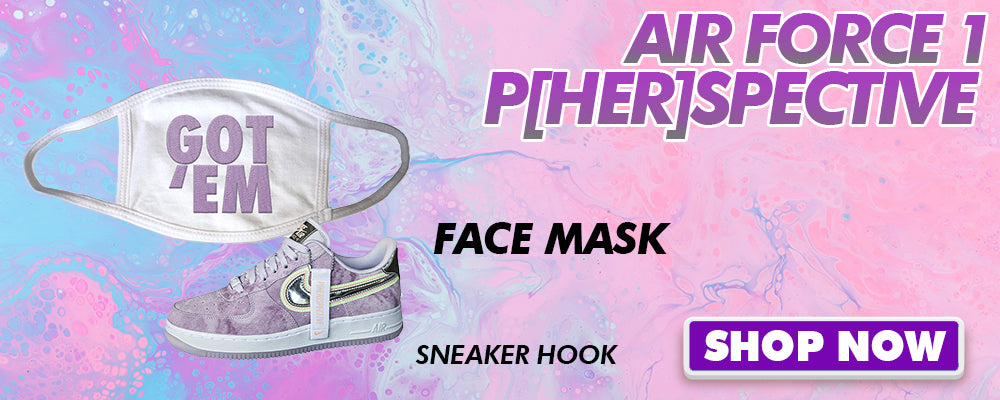 Air Force 1 P[HER]SPECTIVE Face Mask to match Sneakers | Masks to match Nike Air Force 1 P[HER]SPECTIVE Shoes