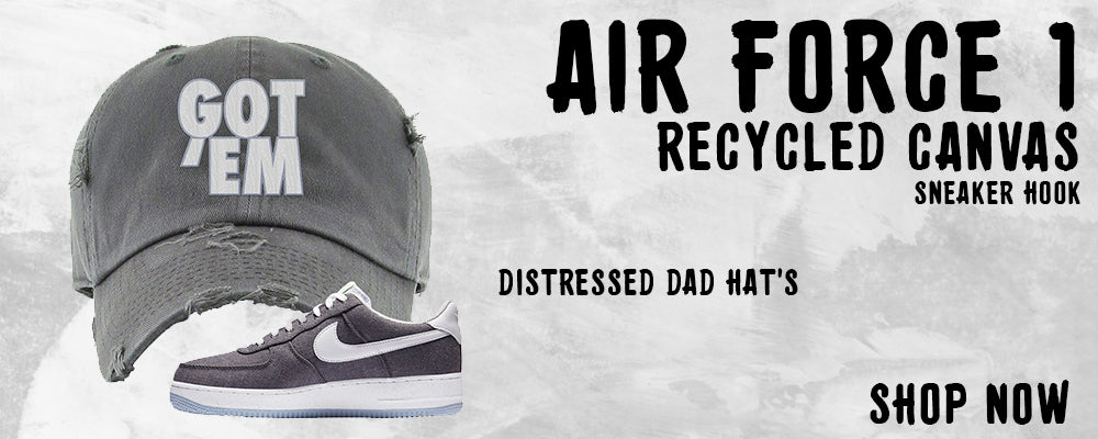 Air Force 1 Low Recycled Canvas Distressed Dad Hats to match Sneakers | Hats to match Nike Air Force 1 Low Recycled Canvas Shoes