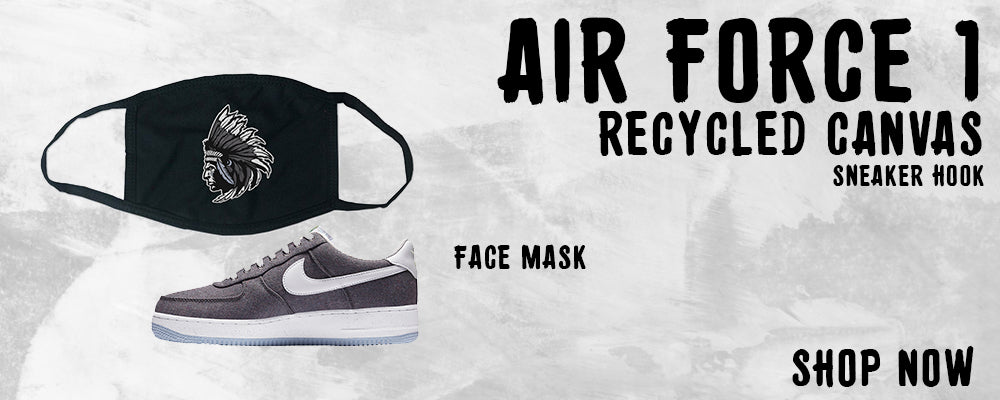 Air Force 1 Low Recycled Canvas Face Mask to match Sneakers | Masks to match Nike Air Force 1 Low Recycled Canvas Shoes