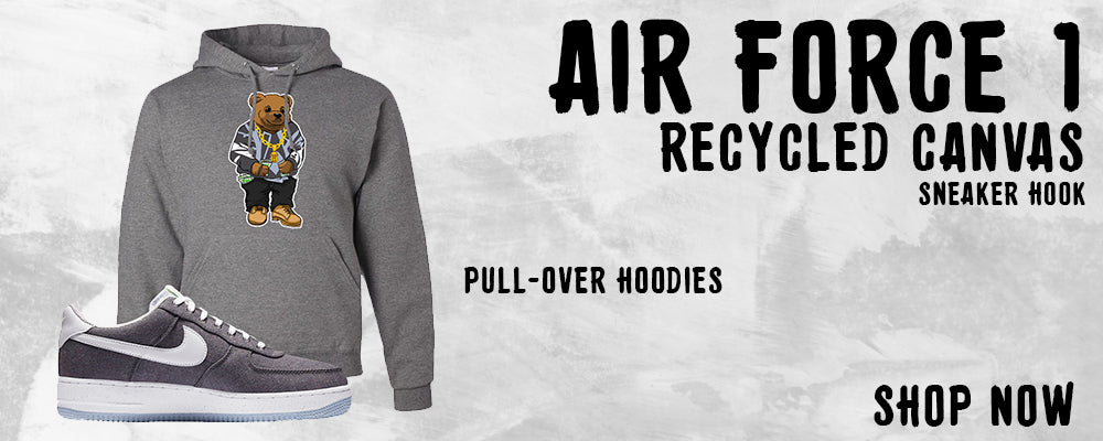 Air Force 1 Low Recycled Canvas Pullover Hoodies to match Sneakers | Hoodies to match Nike Air Force 1 Low Recycled Canvas Shoes