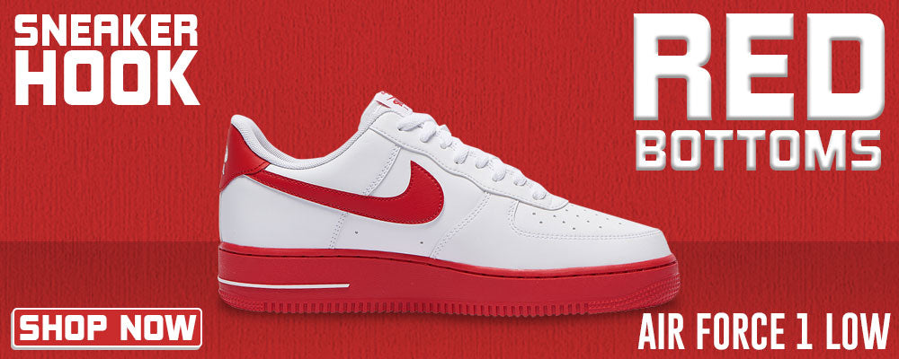 Air Force 1 Low Red Bottoms Clothing to match Sneakers | Clothing to match Nike Air Force 1 Low Red Bottoms Shoes