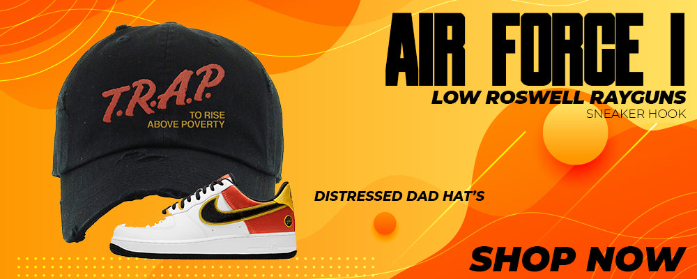 Air Force 1 Low Roswell Rayguns Distressed Dad Hats to match Sneakers | Hats to match Nike Air Force 1 Low Roswell Rayguns Shoes