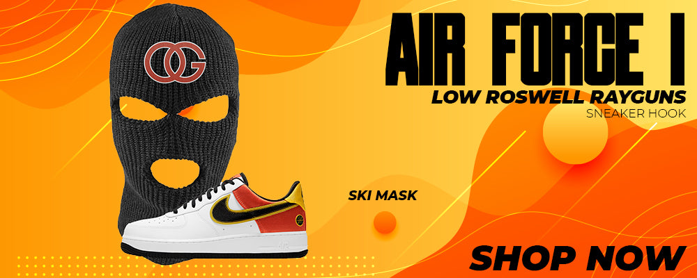Air Force 1 Low Roswell Rayguns Ski Masks to match Sneakers | Winter Masks to match Nike Air Force 1 Low Roswell Rayguns Shoes