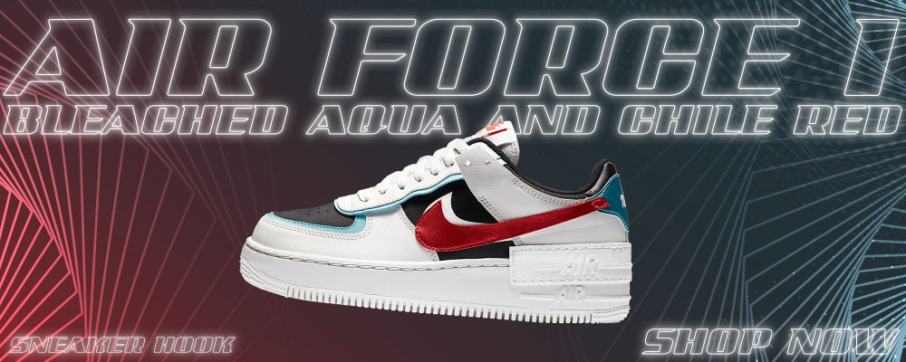 Air Force 1 Low Shadow Bleached Aqua And Chile Red Clothing to match Sneakers | Clothing to match Nike Air Force 1 Low Shadow Bleached Aqua And Chile Red Shoes
