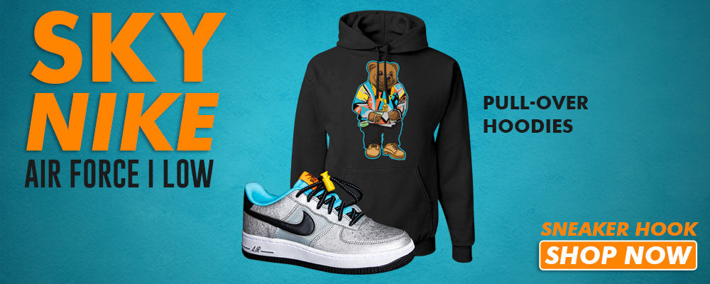 Air Force 1 Low 'Sky Nike' Pullover Hoodies to match Sneakers | Hoodies to match Nike Air Force 1 Low 'Sky Nike' Shoes