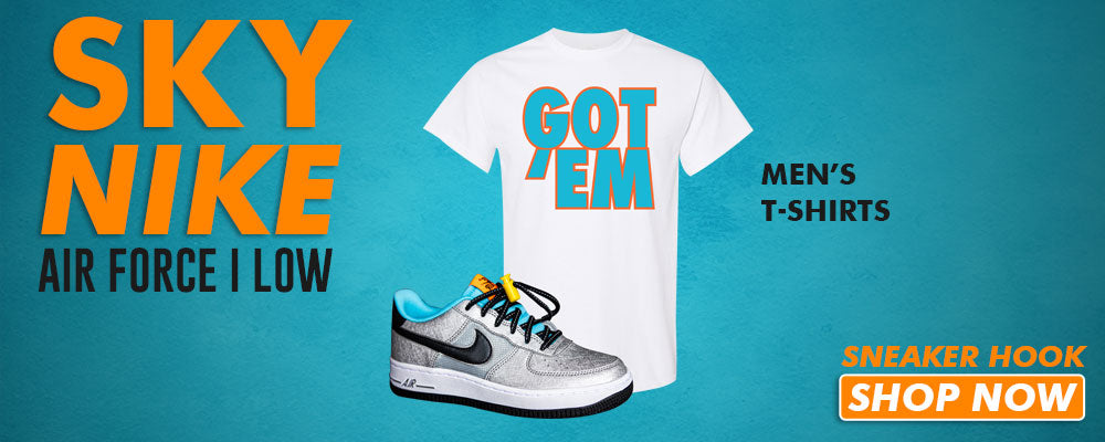 Air Force 1 Low 'Sky Nike' T Shirts to match Sneakers | Tees to match Nike Air Force 1 Low 'Sky Nike' Shoes