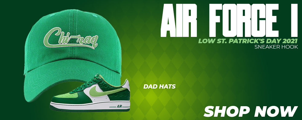 Air Force 1 Low St. Patrick's Day 2021 Dad Hats to match Sneakers | Hats to match Nike Air Force 1 Low St. Patrick's Day 2021 Shoes