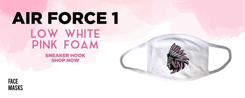 Air Force 1 Low White Pink Foam Face Mask to match Sneakers | Masks to match Nike Air Force 1 Low White Pink Foam Shoes