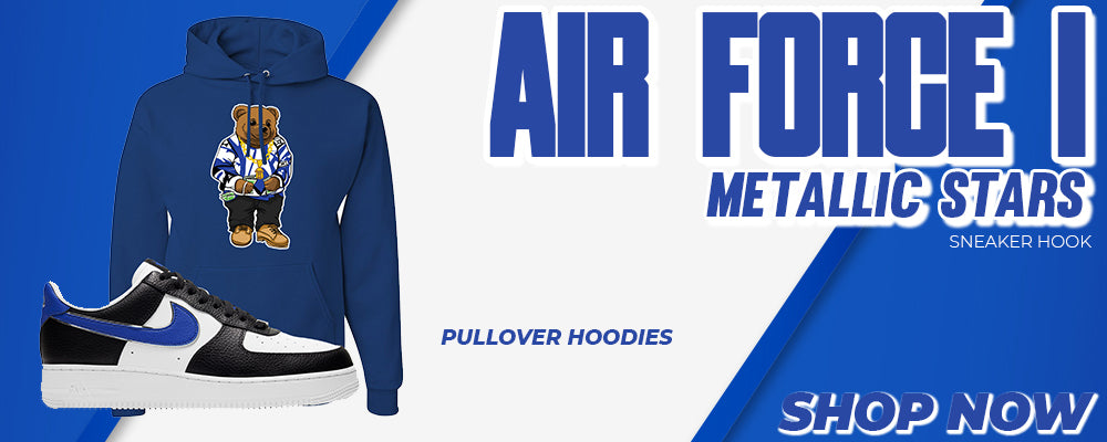 Air Force 1 Metallic Stars Pullover Hoodies to match Sneakers | Hoodies to match Nike Air Force 1 Metallic Stars Shoes