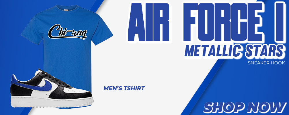 Air Force 1 Metallic Stars T Shirts to match Sneakers | Tees to match Nike Air Force 1 Metallic Stars Shoes
