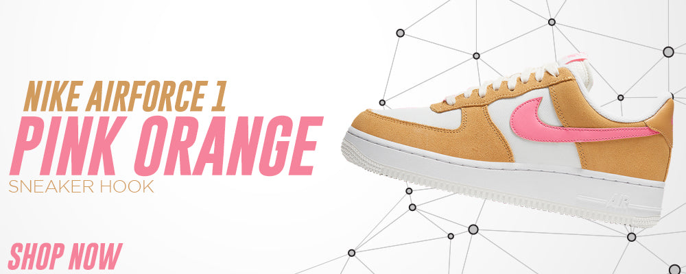 Air Force 1 Pink Orange Clothing to match Sneakers | Clothing to match Nike Air Force 1 Pink Orange Shoes
