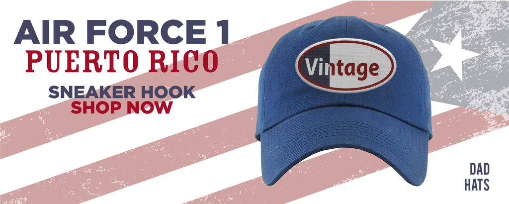 Air Force 1 Puerto Rico Dad Hats to match Sneakers | Hats to match Nike Air Force 1 Puerto Rico Shoes