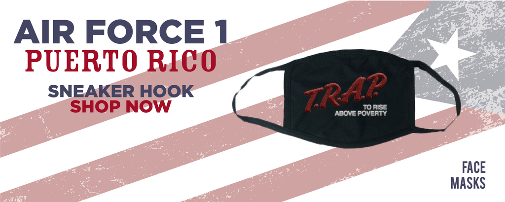 Air Force 1 Puerto Rico Face Mask to match Sneakers | Masks to match Nike Air Force 1 Puerto Rico Shoes