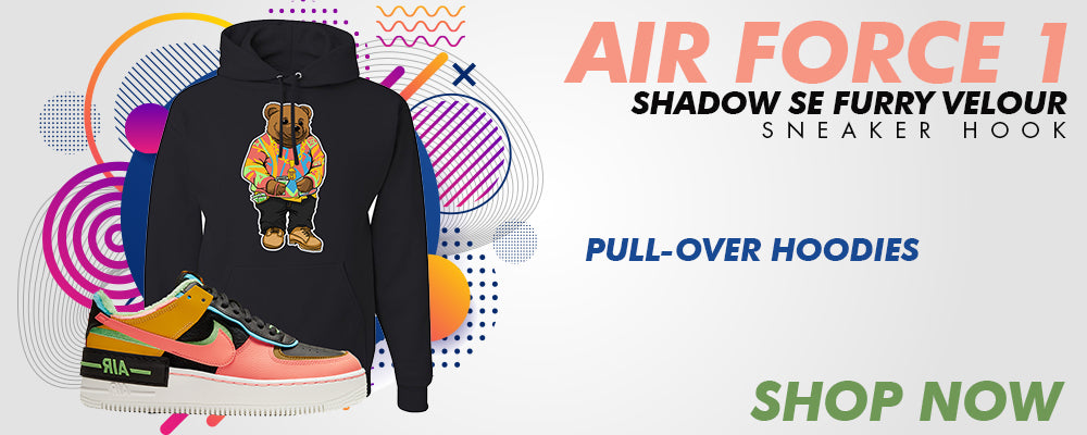 Air Force 1 Shadow SE Furry Velour Pullover Hoodies to match Sneakers | Hoodies to match Nike Air Force 1 Shadow SE Furry Velour Shoes