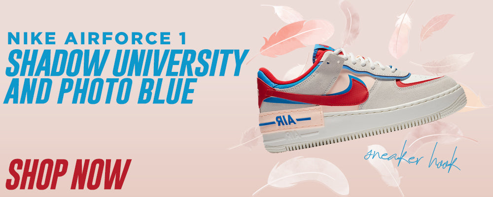Air Force 1 Shadow University Red and Photo Blue Clothing to match Sneakers | Clothing to match Nike Air Force 1 Shadow University Red and Photo Blue Shoes