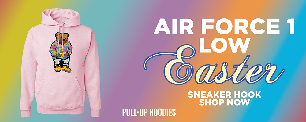 Air Force 1 Low Easter Pullover Hoodies to match Sneakers | Hoodies to match Nike Air Force 1 Low Easter Shoes