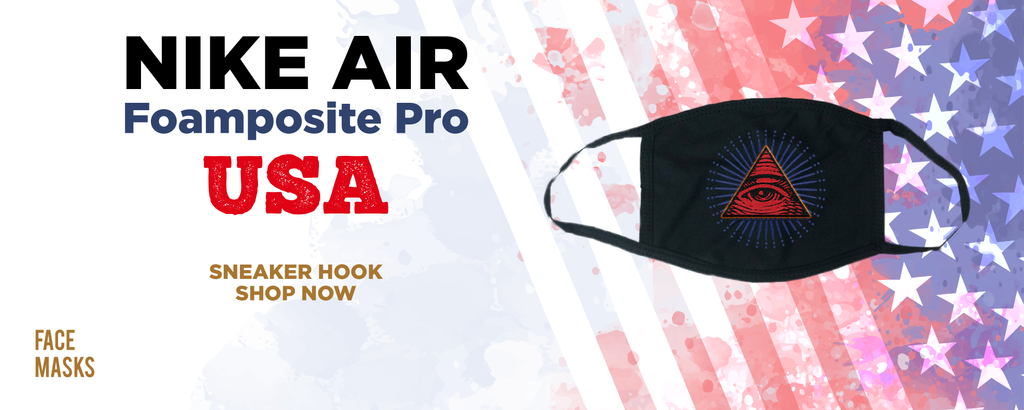 Air Foamposite Pro USA Face Mask to match Sneakers | Masks to match Nike Air Foamposite Pro USA Shoes