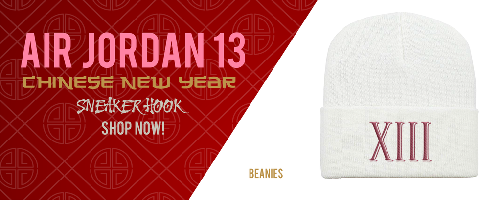 Beanies Made to Match Air Jordan 13 Chinese New Year Sneakers