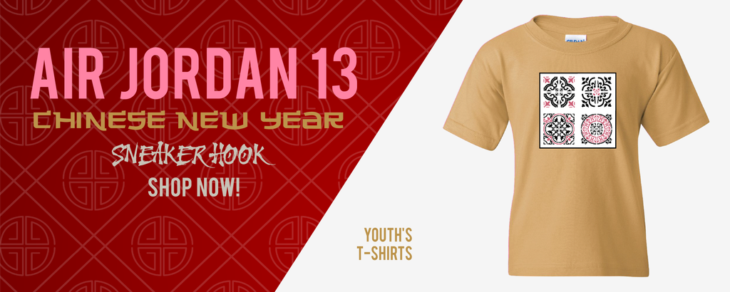 Kid's T-Shirts Made to Match Air Jordan 13 Chinese New Year Sneakers