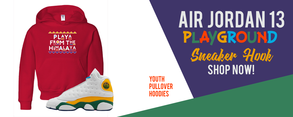 Kid's Hoodies Made to Match Air Jordan 13 GS Playground Kids Sneakers