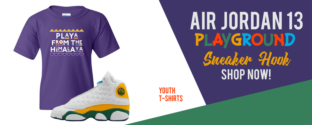 Kid's T-Shirts Made to Match Air Jordan 13 GS Playground Kids Sneakers