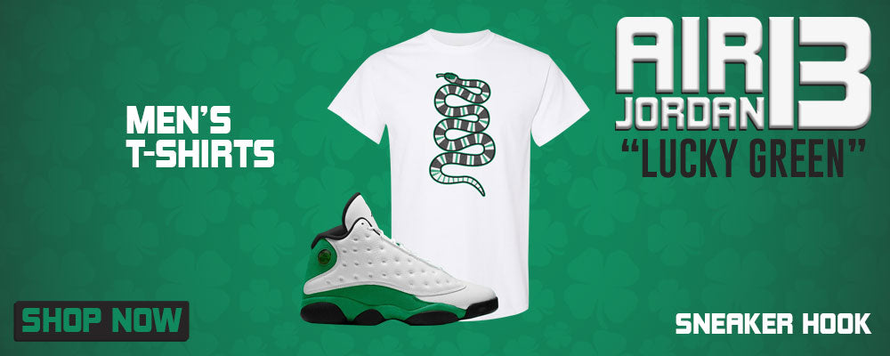 Air Jordan 13 Lucky Green T Shirts to match Sneakers | Tees to match Nike Air Jordan 13 Lucky Green Shoes
