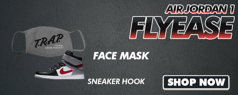 Air Jordan 1 Flyease Face Mask to match Sneakers | Masks to match Nike Air Jordan 1 Flyease Shoes