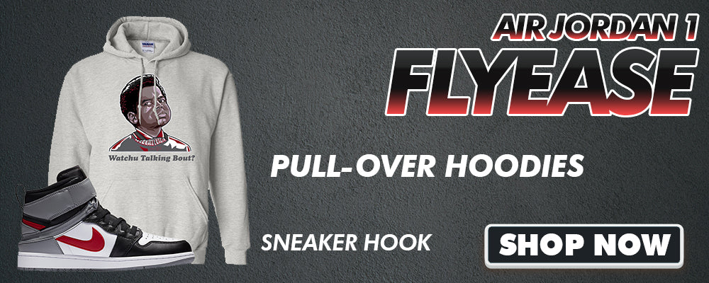 Air Jordan 1 Flyease Pullover Hoodies to match Sneakers | Hoodies to match Nike Air Jordan 1 Flyease Shoes