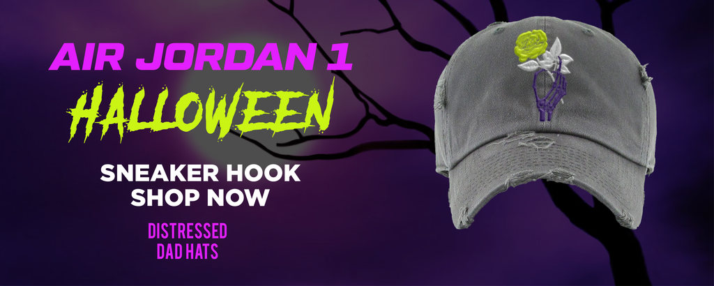Air Jordan 1 Halloween Distressed Dad Hats to match Sneakers   Hats to match Nike Air Jordan 1 Halloween Shoes