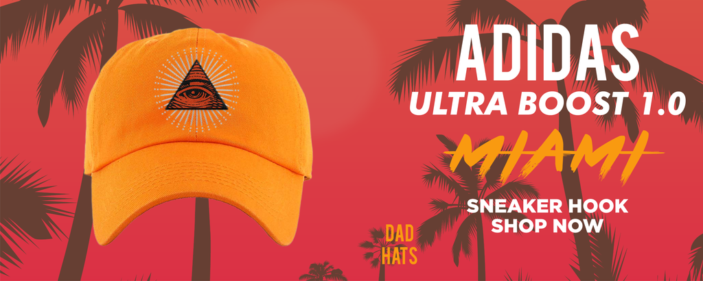 Ultra Boost 1.0 Miami Dad Hats to match Sneakers | Hats to match Adidas Ultra Boost 1.0 Miami Shoes