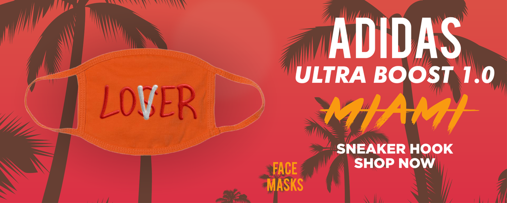 Ultra Boost 1.0 Miami Face Mask to match Sneakers | Masks to match Adidas Ultra Boost 1.0 Miami Shoes