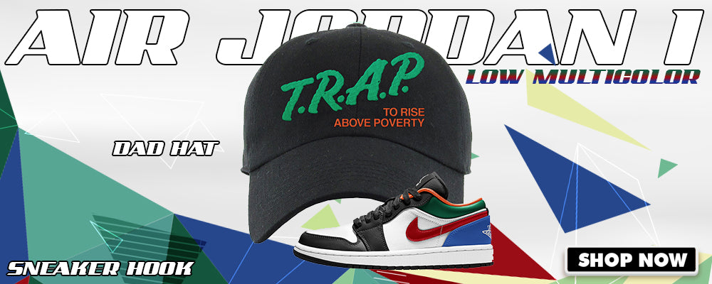Air Jordan 1 Low 'Multi-Color' Dad Hats to match Sneakers | Hats to match Nike Air Jordan 1 Low 'Multi-Color' Shoes