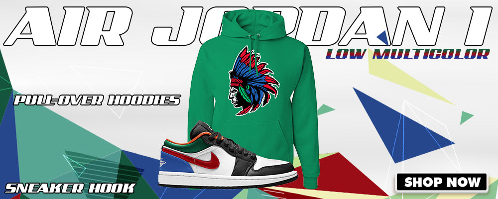Air Jordan 1 Low 'Multi-Color' Pullover Hoodies to match Sneakers | Hoodies to match Nike Air Jordan 1 Low 'Multi-Color' Shoes