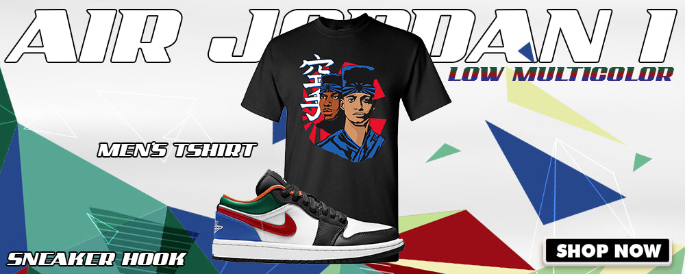 Air Jordan 1 Low 'Multi-Color' T Shirts to match Sneakers | Tees to match Nike Air Jordan 1 Low 'Multi-Color' Shoes