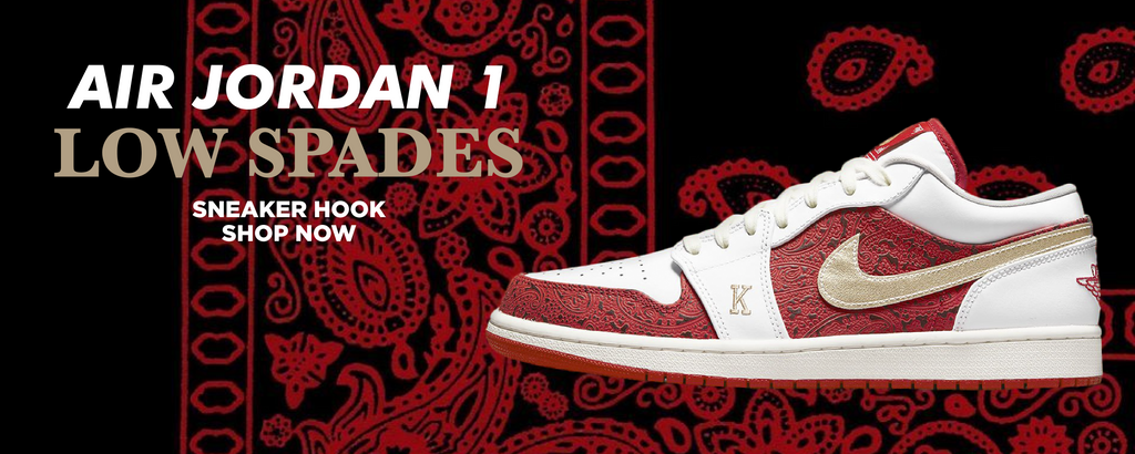 Air Jordan 1 Low Spades Clothing to match Sneakers | Clothing to match Nike Air Jordan 1 Low Spades Shoes