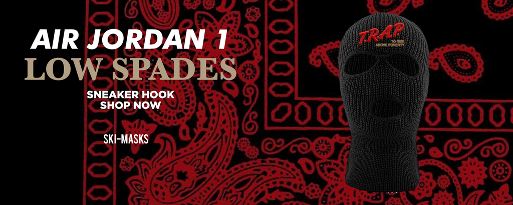 Air Jordan 1 Low Spades Ski Masks to match Sneakers | Winter Masks to match Nike Air Jordan 1 Low Spades Shoes