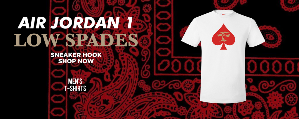 Air Jordan 1 Low Spades T Shirts to match Sneakers | Tees to match Nike Air Jordan 1 Low Spades Shoes