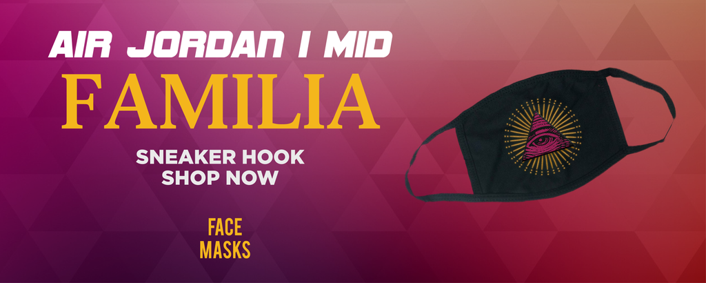 Air Jordan 1 Mid Familia Face Mask to match Sneakers | Masks to match Nike Air Jordan 1 Mid Familia Shoes