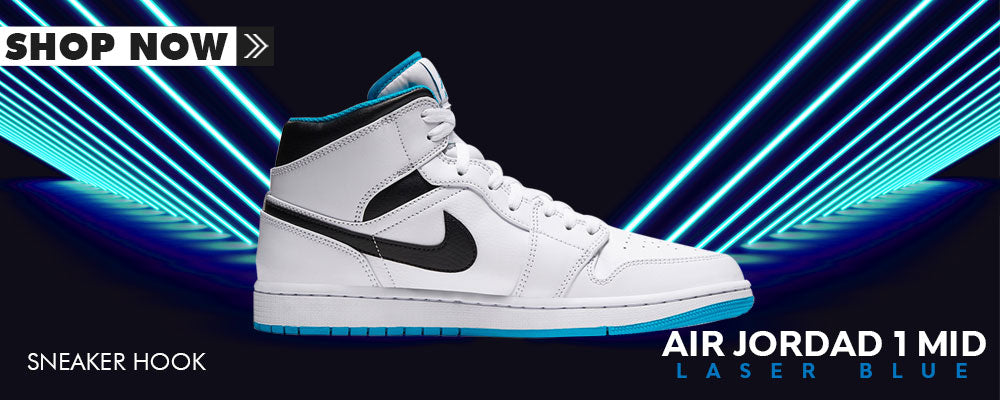 Air Jordan 1 Mid Laser Blue Clothing to match Sneakers | Clothing to match Nike Air Jordan 1 Mid Laser Blue Shoes