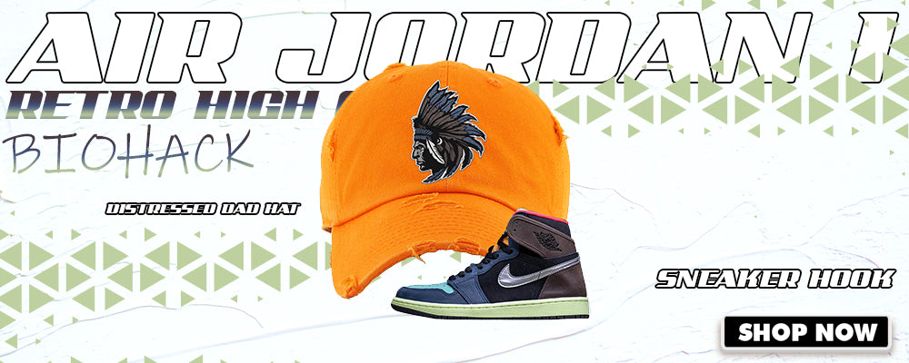Air Jordan 1 Retro High OG 'Bio Hack' Distressed Dad Hats to match Sneakers | Hats to match Nike Air Jordan 1 Retro High OG 'Bio Hack' Shoes