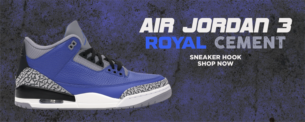 Air Jordan 3 Royal Cement Clothing to match Sneakers | Clothing to match Nike Air Jordan 3 Royal Cement Shoes