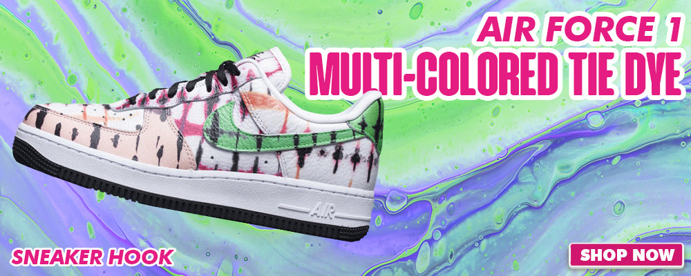 Air Force 1 Low Multi-colored Tie-Dye Clothing to match Sneakers | Clothing to match Nike Air Force 1 Low Multi-colored Tie-Dye Shoes