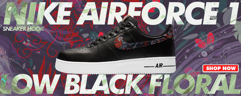 Air Force 1 Low Black Floral Clothing to match Sneakers | Clothing to match Nike Air Force 1 Low Black Floral Shoes