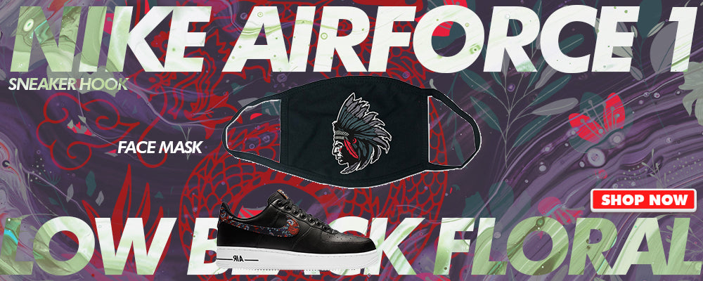 Air Force 1 Low Black Floral Face Mask to match Sneakers | Masks to match Nike Air Force 1 Low Black Floral Shoes