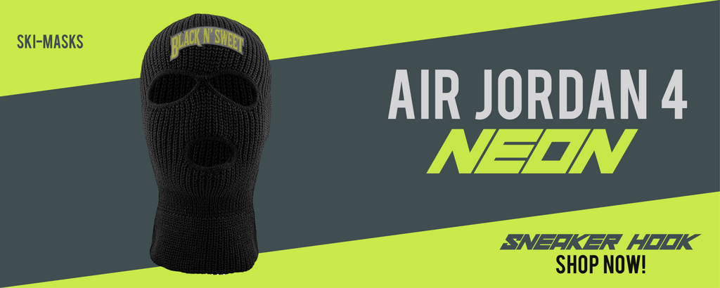 Jordan 4 Neon Ski Masks to match Sneakers | Winter Masks to match Air Jordan 4 Neon Shoes