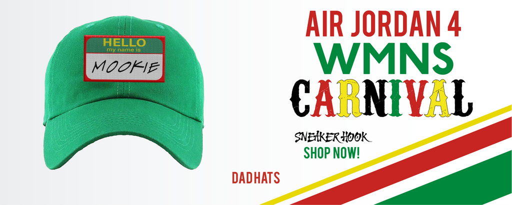 Jordan 4 WMNS Carnival Dad Hats to match Sneakers | Hats to match Do The Right Thing 4S Carnival Shoes