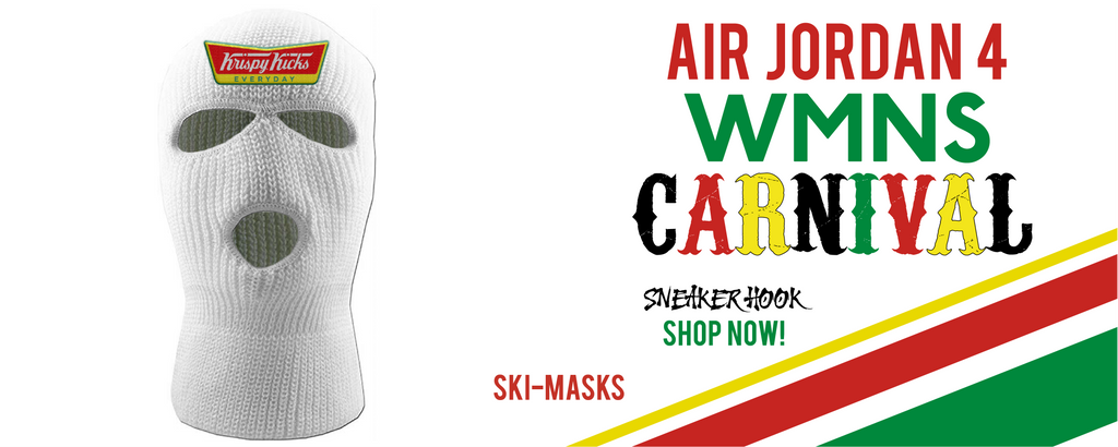 Jordan 4 WMNS Carnival Ski Masks to match Sneakers | Winter Masks to match Do The Right Thing 4S Carnival Shoes