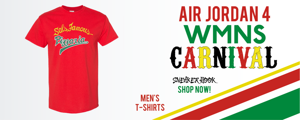 Jordan 4 WMNS Carnival T Shirts to match Sneakers | Tees to match Do The Right Thing 4S Carnival Shoes