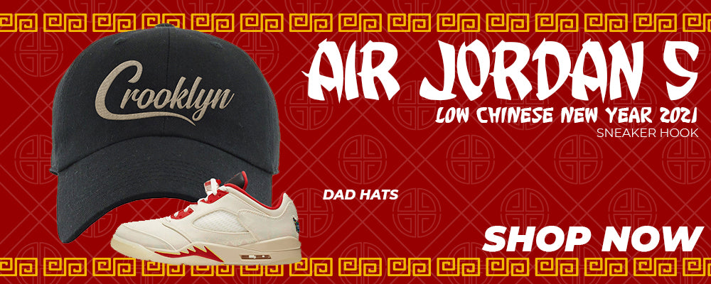 Air Jordan 5 Low Chinese New Year 2021 Dad Hats to match Sneakers | Hats to match Nike Air Jordan 5 Low Chinese New Year 2021 Shoes