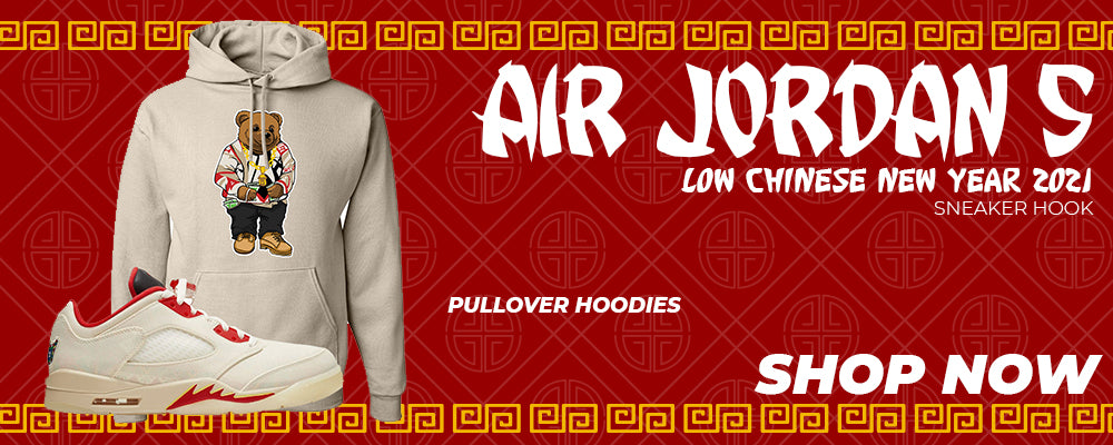 Air Jordan 5 Low Chinese New Year 2021 Pullover Hoodies to match Sneakers | Hoodies to match Nike Air Jordan 5 Low Chinese New Year 2021 Shoes